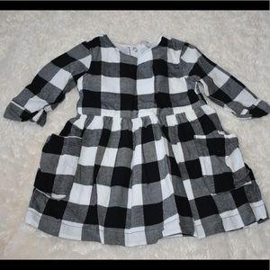 Black & White Flannel Dress
